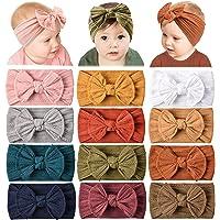 12 Pack Baby Nylon Headbands Hairbands Hair Bow Elastics Handmade Hair Accessories for Baby Girls Newborn Infant…