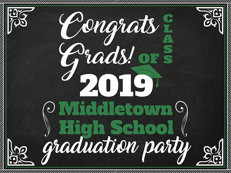 Custom Chalkboard Signs Size 24x18 36x24 Graduation Banner Decor Graduation Decoration Supplies Personalized Graduation Banners Graduation Party Decoration Custom Banner 48x24 and 48x36
