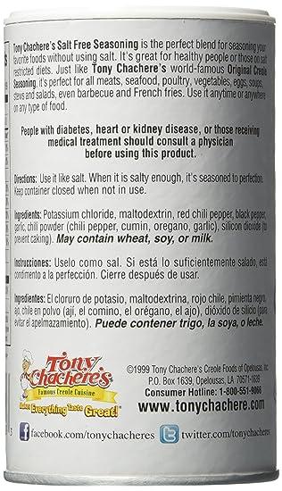 Amazon.com : Tony Chachere Seasoning Blends, Salt-Free Creole, 4 Count : Grocery & Gourmet Food
