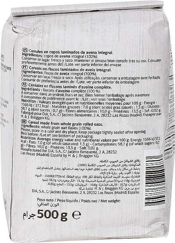 DIA VITAL copos de avena paquete 500 gr: Amazon.es ...