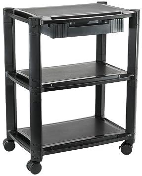 Vivo altura ajustable móvil ordenador máquina carro Smart apilados soporte para impresora con ruedas y cajón de almacenamiento organizador (cart-v00b): ...