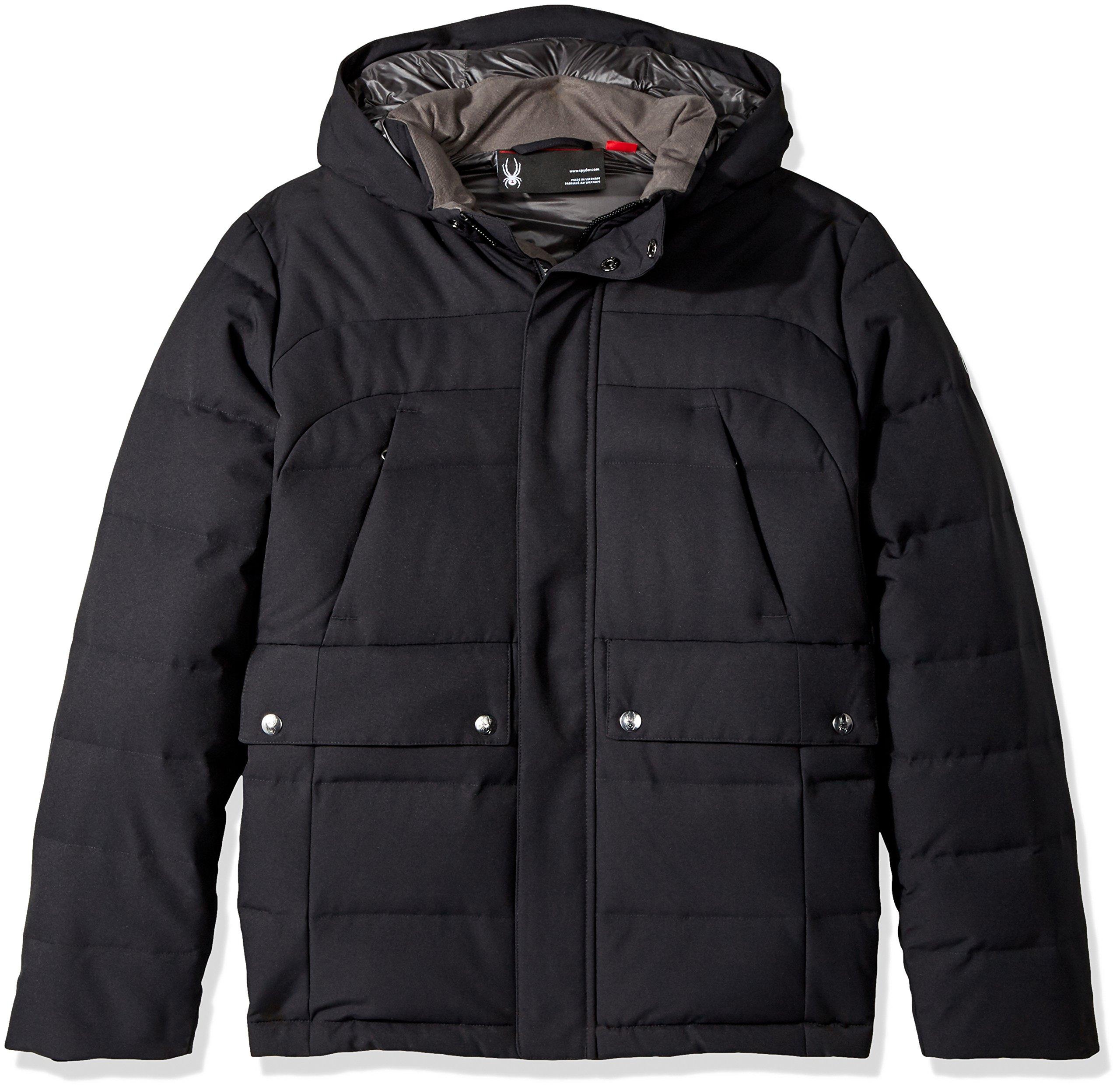 Spyder Boy's Garrison Jacket, Black/Black, Small