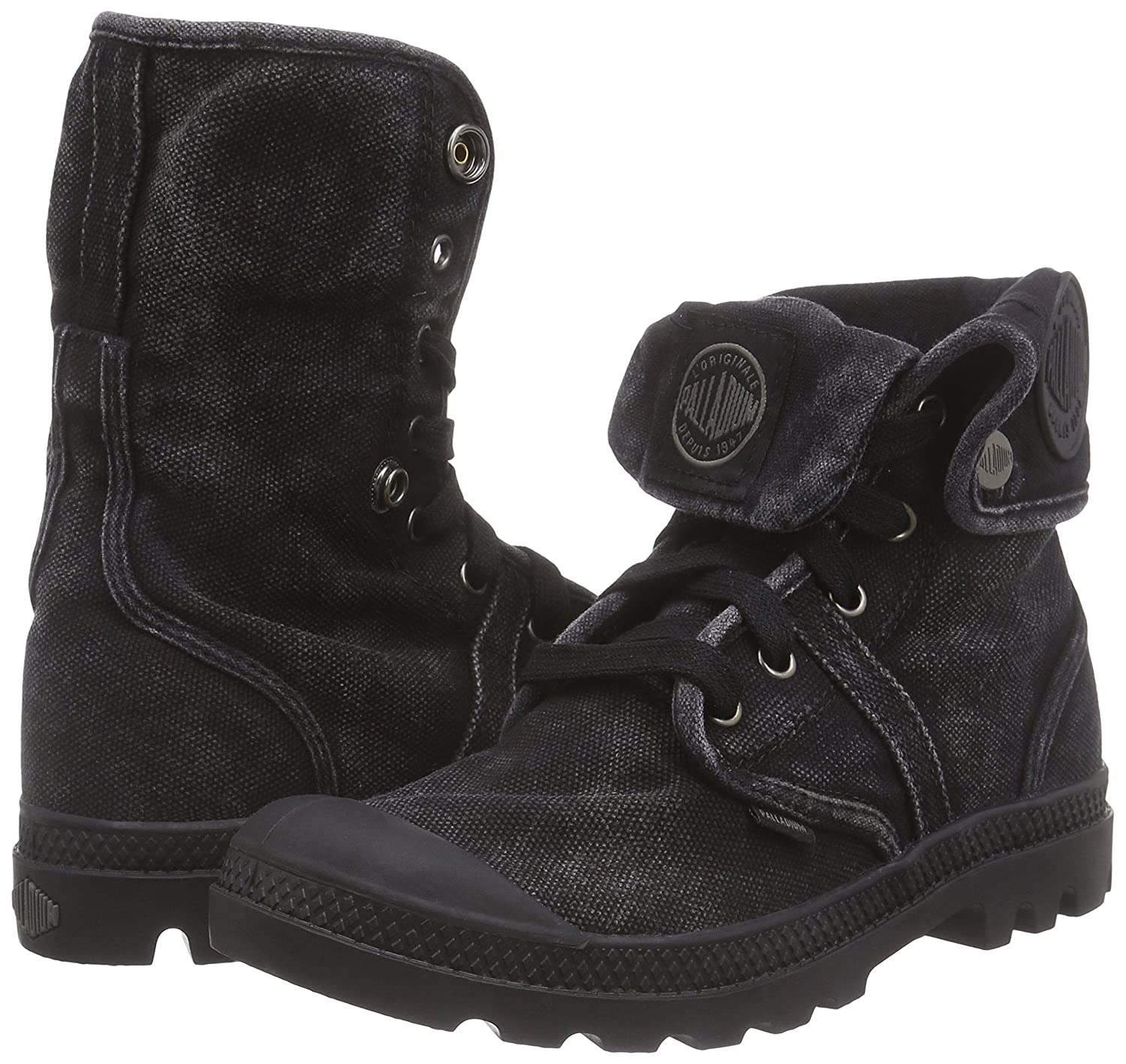 Palladium Women s Pallabrouse Baggy Textile Black Metal High-Top Canvas  Boot - 8M  Buy Online at Low Prices in India - Amazon.in b9bde29d0bd