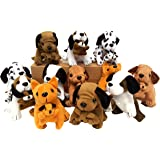 Plush Dogs Holding Puppies, (12 Dogs)