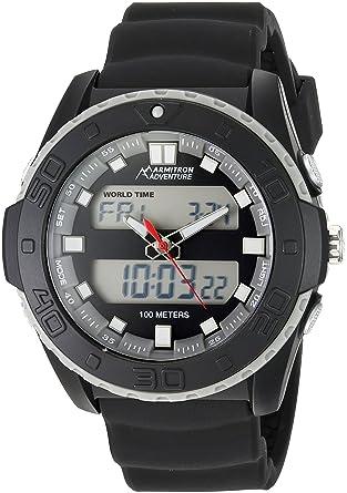 e42eec42d6b1 Amazon.com: Armitron Adventure Men's AD/1009BLK Analog-Digital Chronograph Multi-Function  Black Silicone Strap Sport Watch: Watches