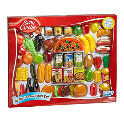 General Mills Betty Crocker Play Food Set (85 Piece), Red: Toys & Games