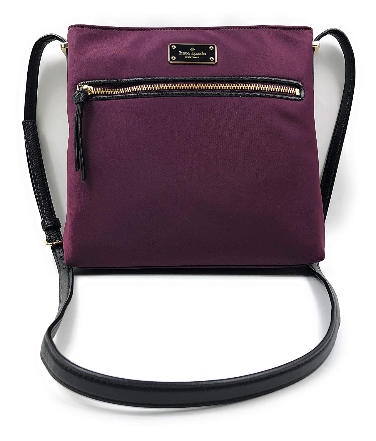 ddd16ce8fda73 Amazon.com  Kate Spade Wilson Road Nylon Dessi Nylon Crossbody Handbag Deep  Plum  Shoes