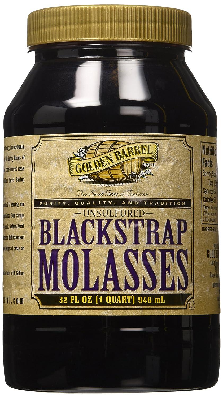 Golden Barrel Unsulfured Black Strap molasses, 32 oz