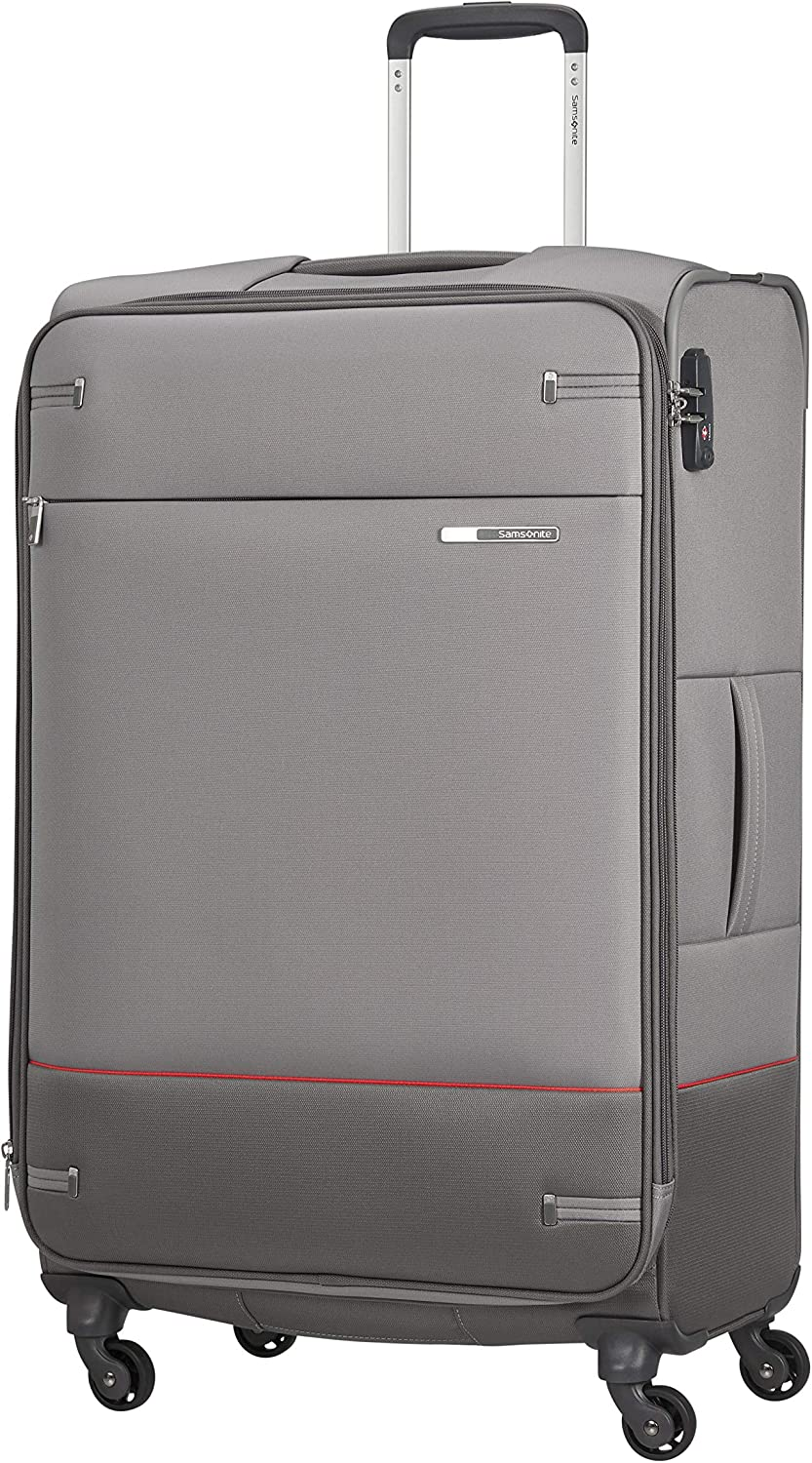 Samsonite Base Boost - Spinner L Expandible Maleta, 78 cm, 105/112.5 L, Gris (Grey)