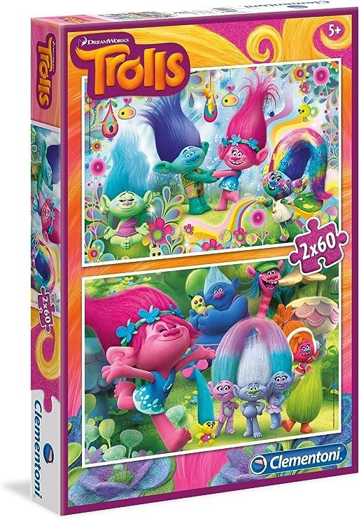 Trolls - Puzzle 2 x 60 piezas (Clementoni 07128): Amazon.es ...