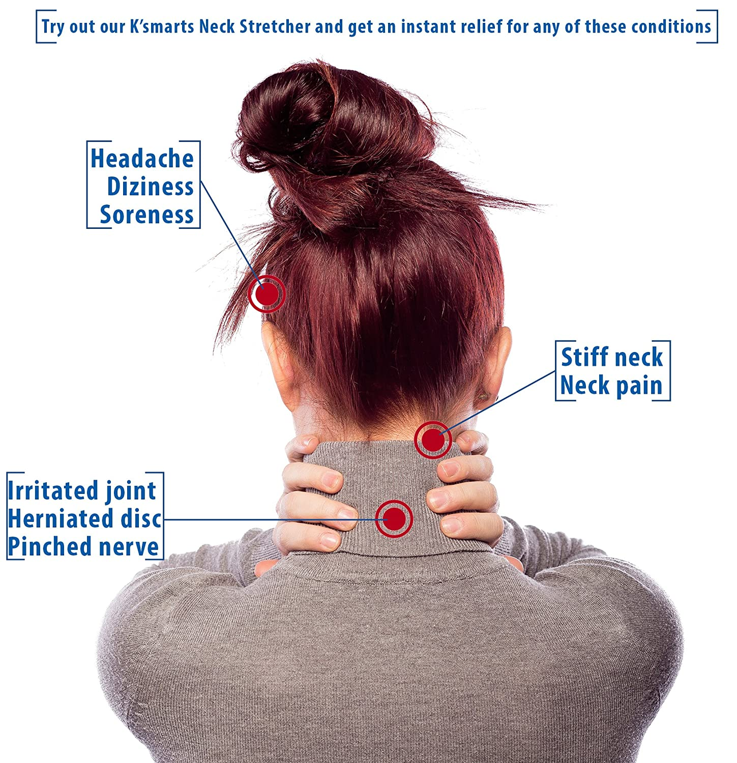 Amazon.com: Pinched Nerve Neck Stretcher Cervical Traction Device ...