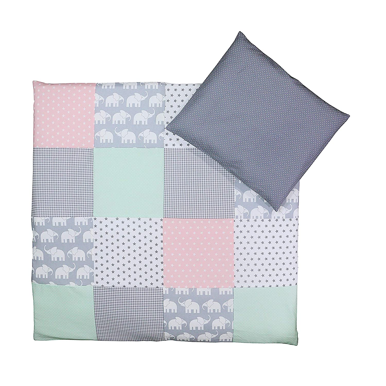 2-Piece Baby Bed Linen Set: 35/x 40/cm Pillowcase, 80/x 80/cm Quilt Cover Blue Stars ULLENBOOM//® Baby Bedding Set/