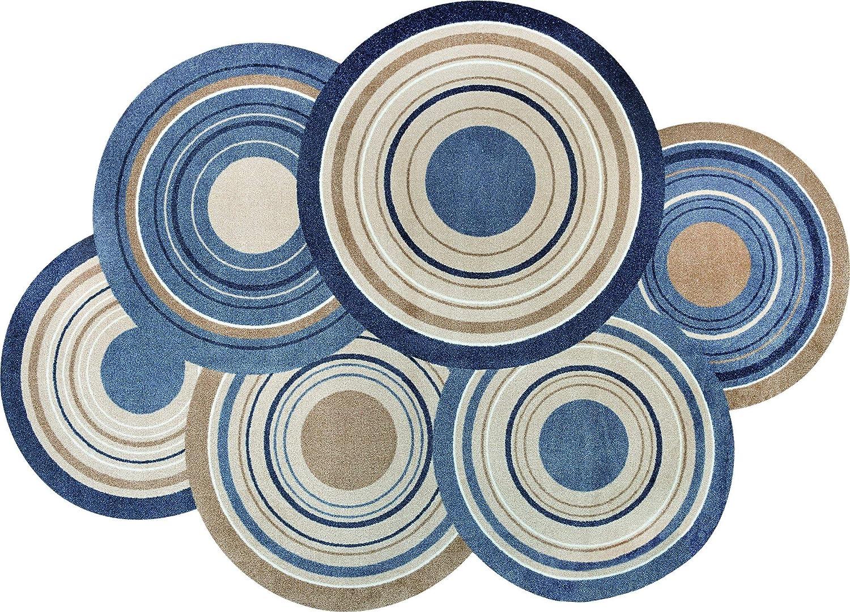 Wash+dry Cosmic Colours Nature Fußmatte, Acryl, bunt, 140x200x0.9 cm