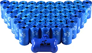 Downtown Pet Supply Dog Pet Waste Poop Bags with Leash Clip and Bag Dispenser - 180, 220, 500, 700, 880, 960, 2200 Bags
