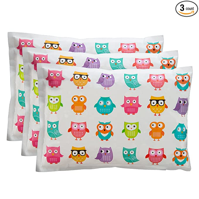 """Bentology Ice Pack for Lunch Boxes 3 Pack by (6""""x4.5"""")"""
