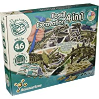 Science4you 399679 - Excavaciones Fósiles 4 en 1