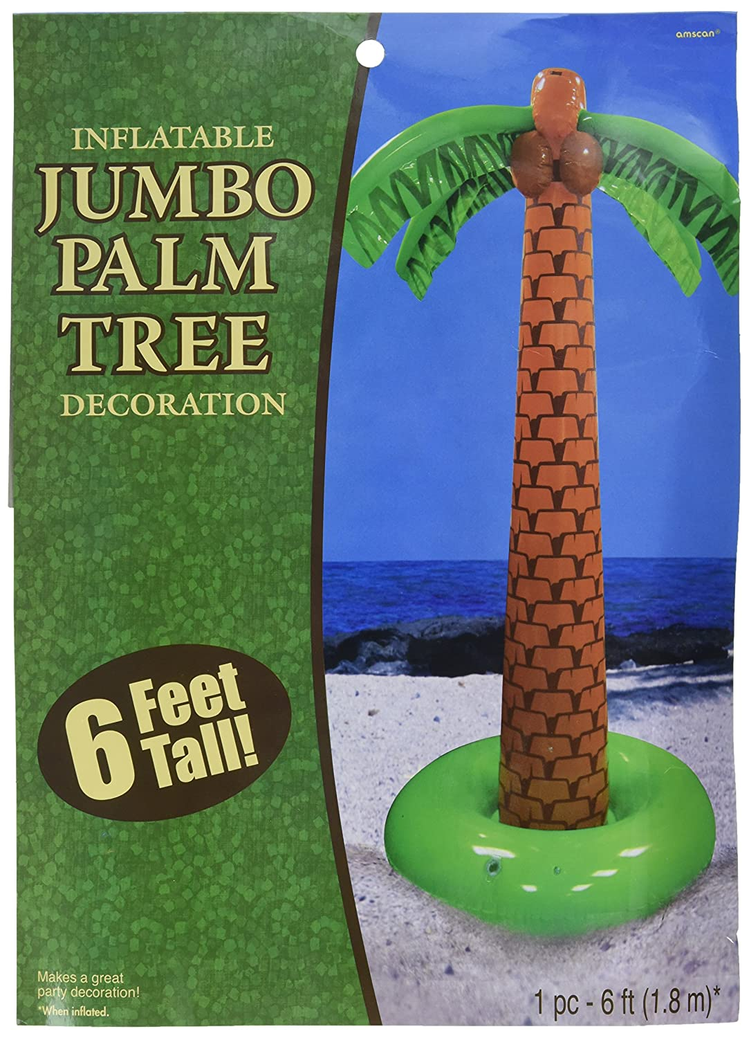 Amazon.com: Hawaiian Summer Beach Party Inflatable Palm Tree ...