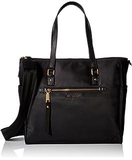 Marc Jacobs Women s Trooper Babybag Travel Totes Luggage, (Black), 44x33x15  cm ( a7bfa261608e