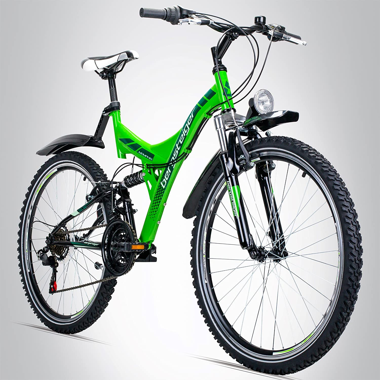 Bergsteiger Memphis 26 Zoll Mountainbike, geeignet ab 150 cm, Dynamo ...