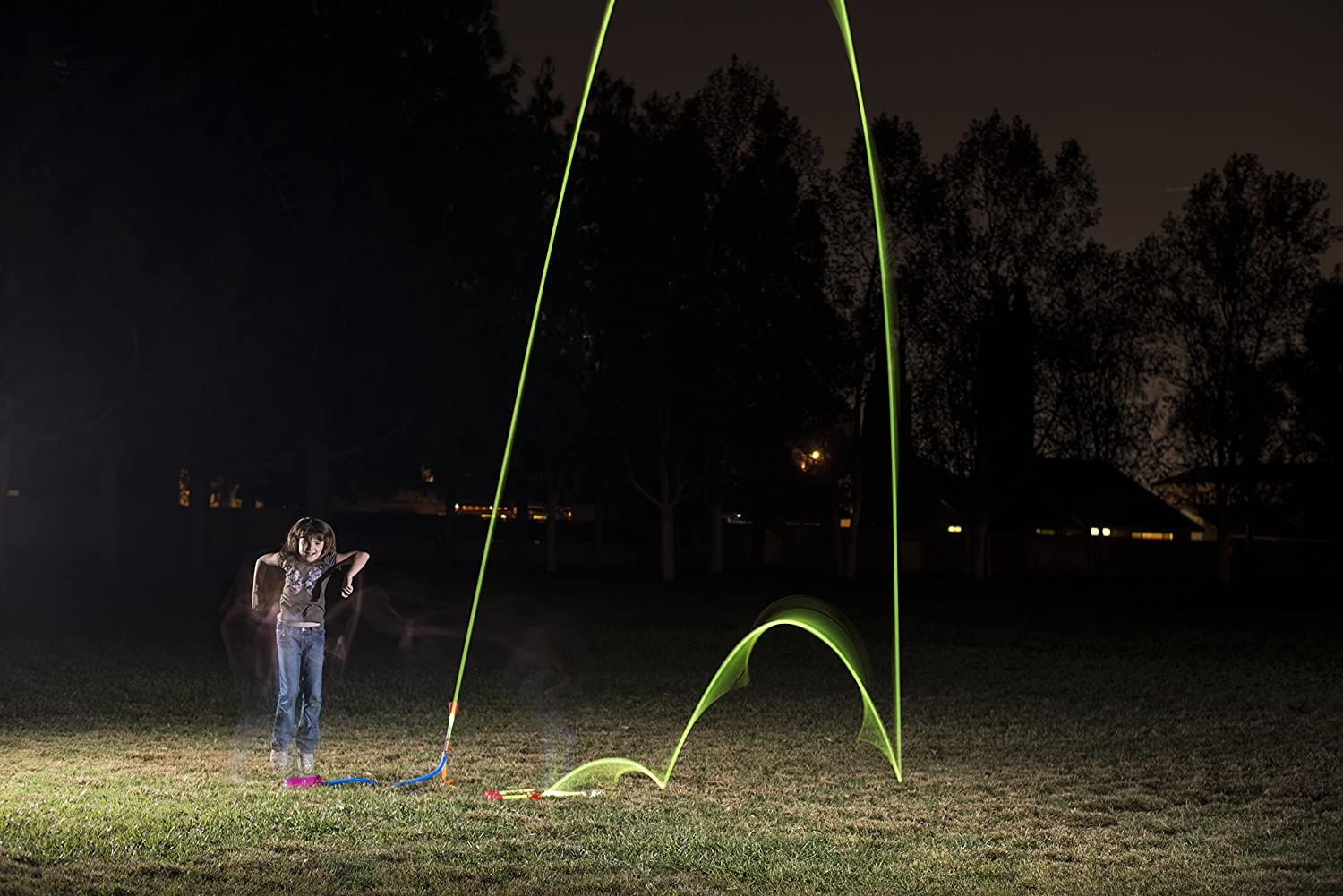 3 Rockets Stomp Rocket Jr Glow Rocket Refill Pack Outdoor Rocket Toy Gift for Boys and Girls- Ages 3 Years and Up
