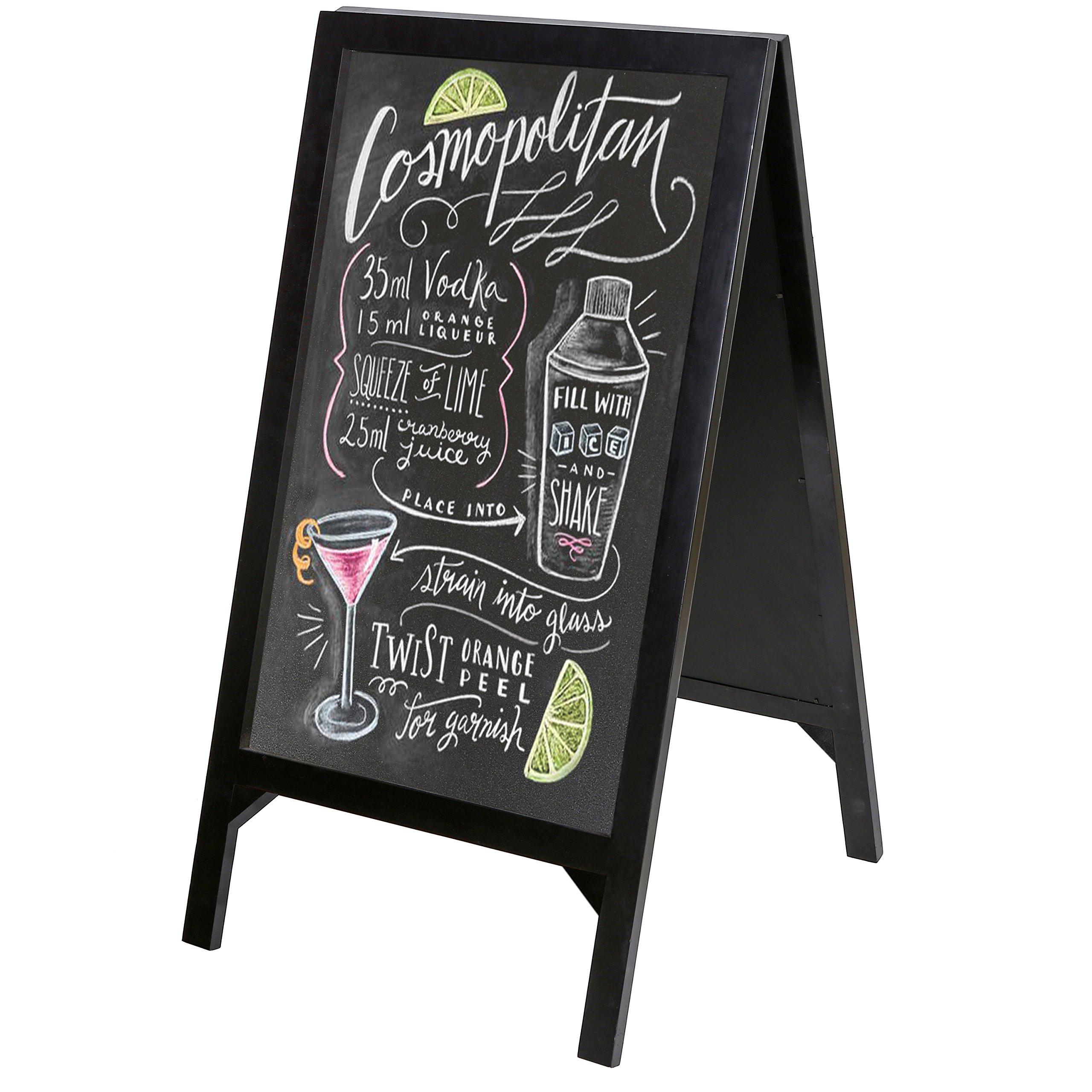 Large Rustic Style Chalkboard Sandwich Board 2 Sided A Frame ...