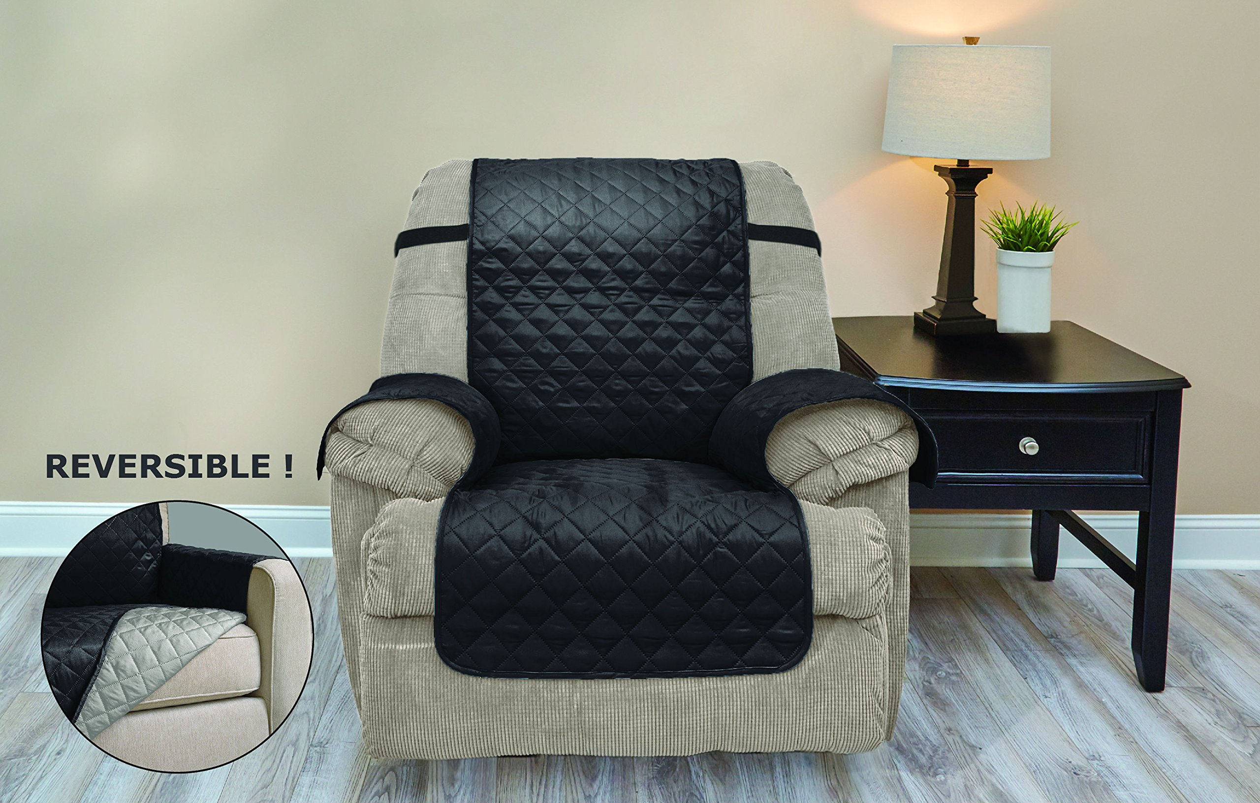 Reversible Protective Quilted Recliner Chair Furniture