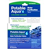 Potable Aqua Chlorine Dioxide Water Purification Tablets - 30 Count