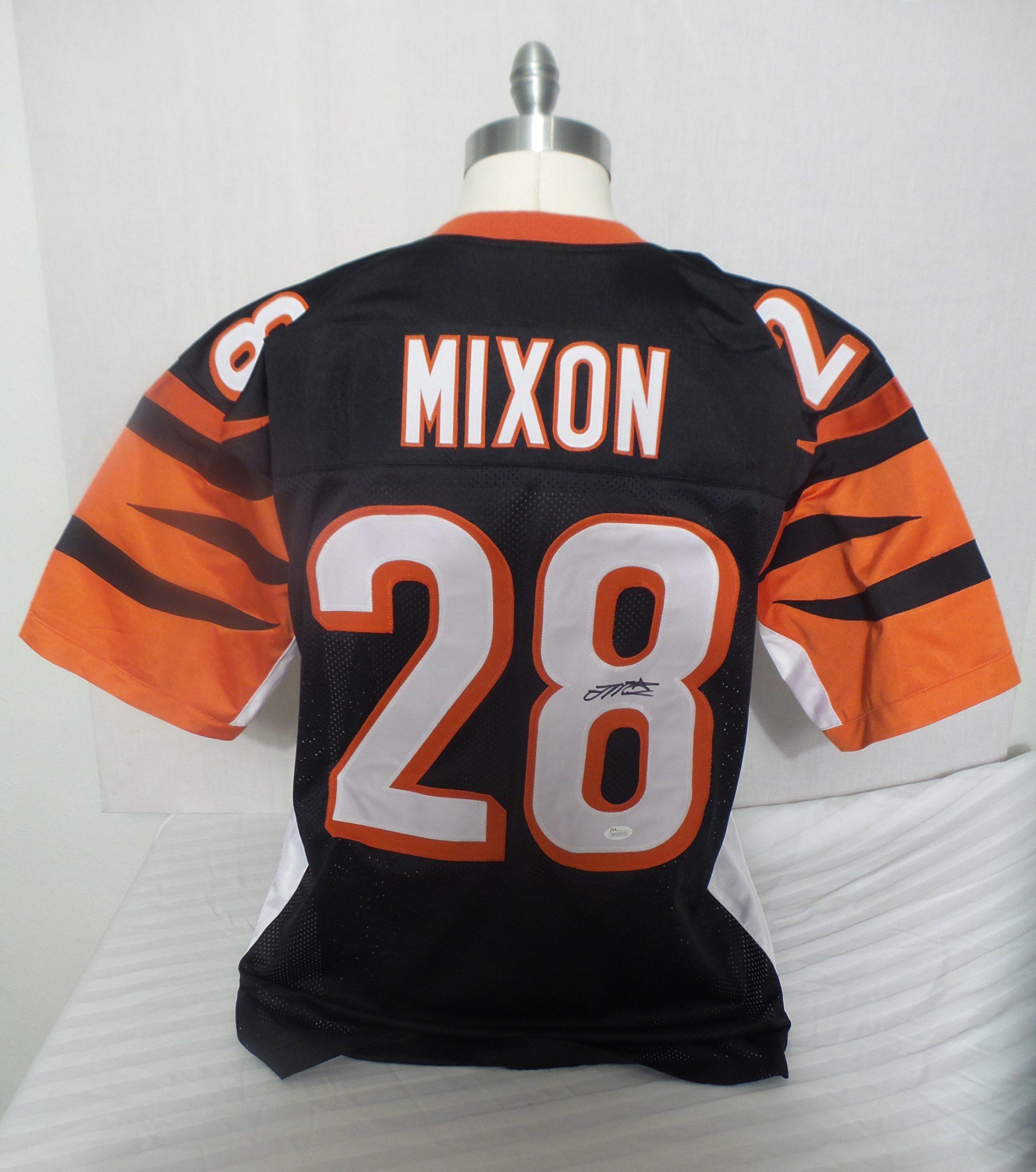 Joe Mixon Signed Cincinnati Bengals Black Autographed Jersey JSA