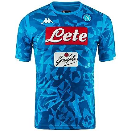 SSC Napoli Camiseta de juego local réplica azul cielo fantasía, azul, xxl