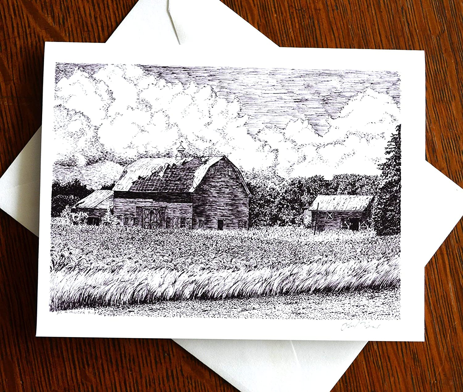 Columbia County Cornfield Note Card
