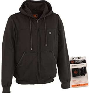 Milwaukee Performance Mens Hoodie w//Front/&Back Heating Elements-BLACK-4X-LARGE Black 4X-Large MPM1713-BLK-4X