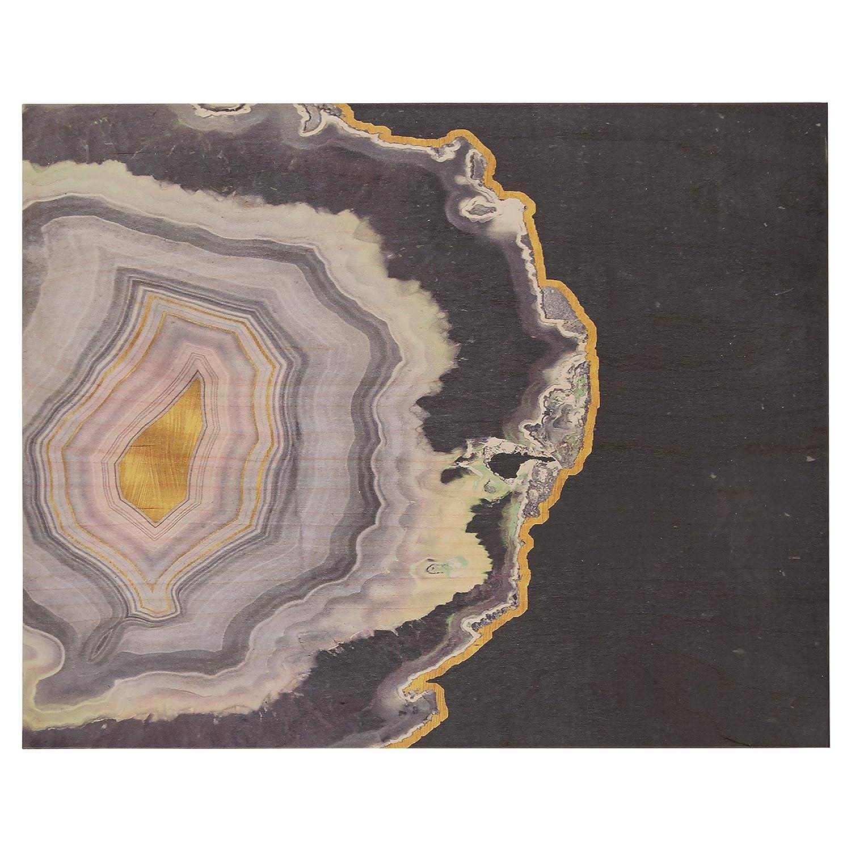 Rivet Purple Modern Agate Geode On Wood Wall Art 16 X 20