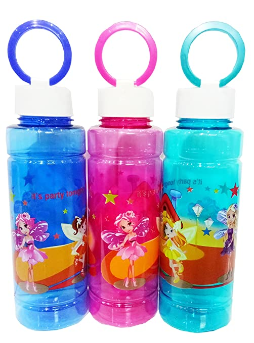 e25ee64095f Buy Kids School Stylish Water Bottle for Boys   Girls-Multicolor Online at  Low Prices in India - Amazon.in