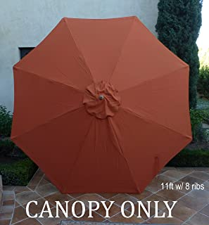 Replacement umbrella canopy for 11ft 8 ribs in Terra (Canopy Only) & Amazon.com : New Market Patio Umbrella Replacement Canopy Canvas ...