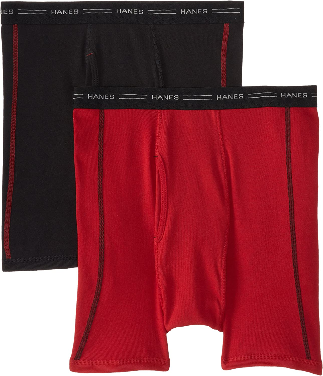 Hanes Men's 2-Pack Cool DRI No Ride Up Boxer Briefs
