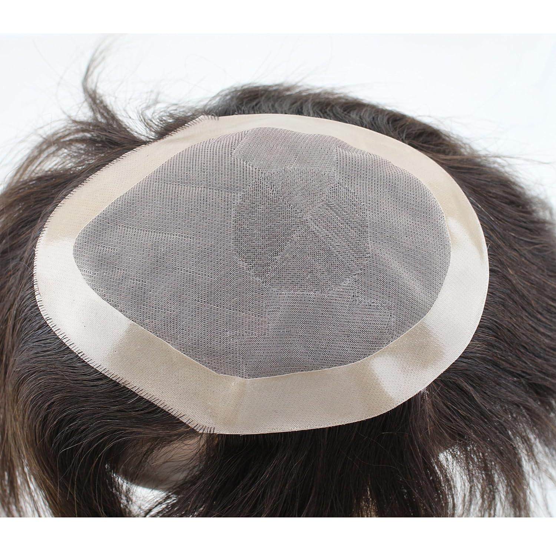 Amazon.com: dreambeauty Toupee de los hombres 10 × 8 inch ...
