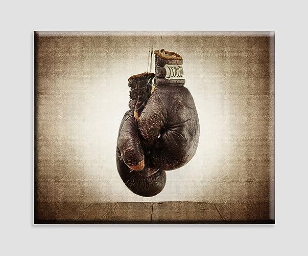 Amazon.com: Vintage Boxing Gloves on Vintage Background Stretched ...
