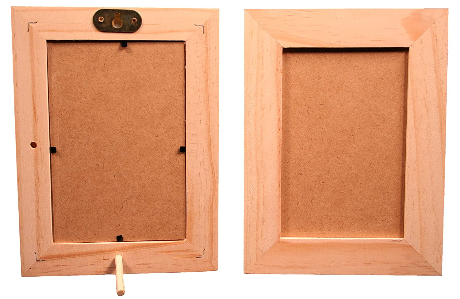 4\ X 6\ Unfinished Wood Picture Frames - Stand or Hang on the Wall - Lot of 6 Crafter' s Components 4336908134