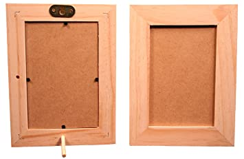 Amazoncom Pack Of 6 Unfinished Wood Picture Frames For Arts