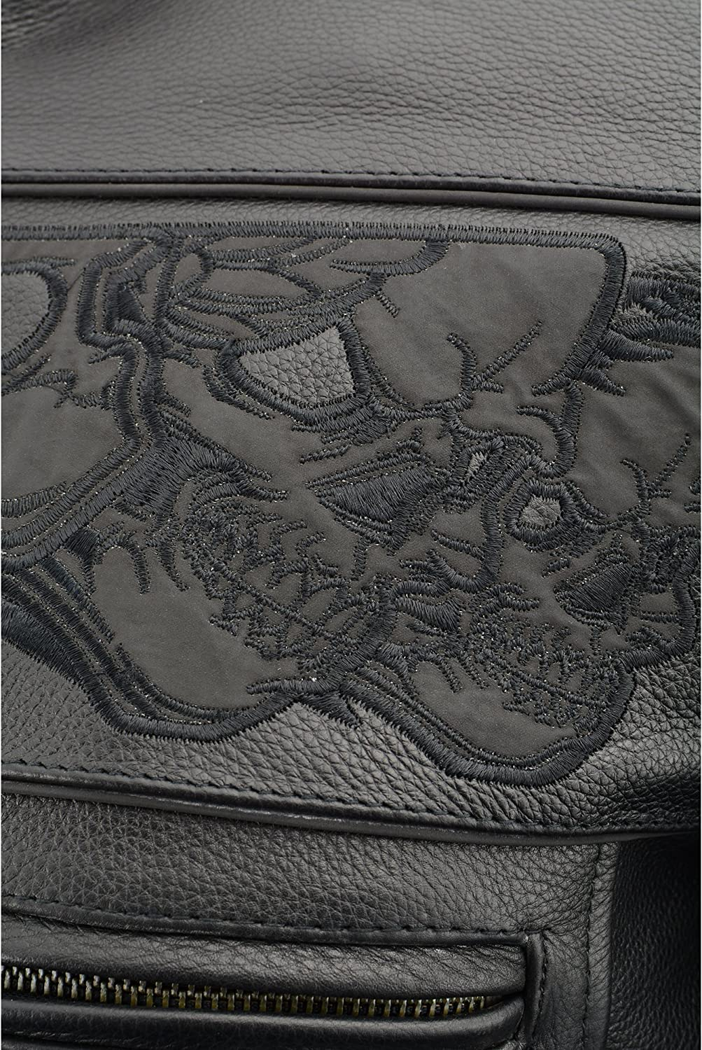 Black, XXX-Large Milwaukee Mens Crossover Scooter Jacket with Reflective Skulls