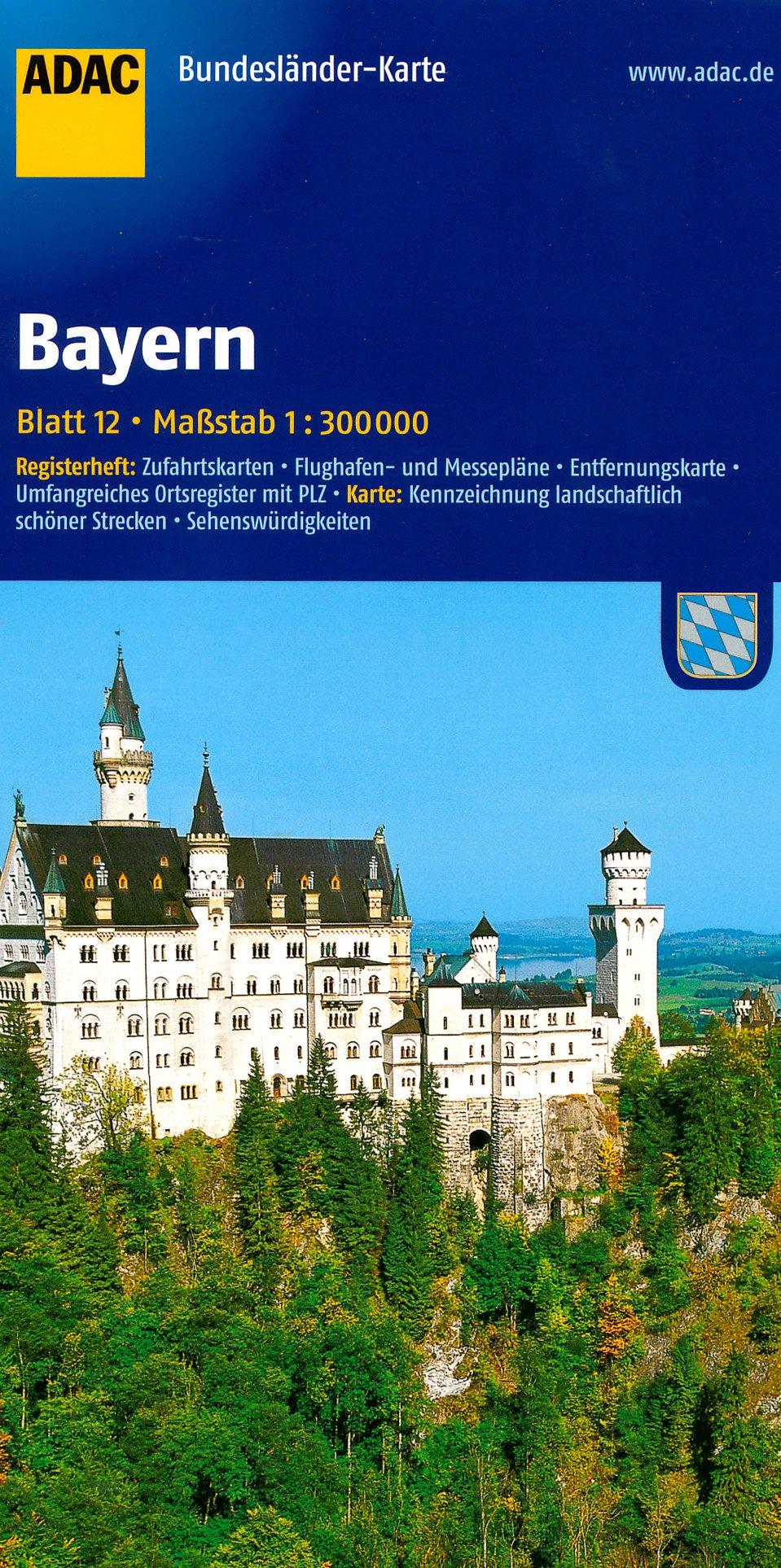 Bavaria Germany Touring Map Adac Adac Amazon Com Books