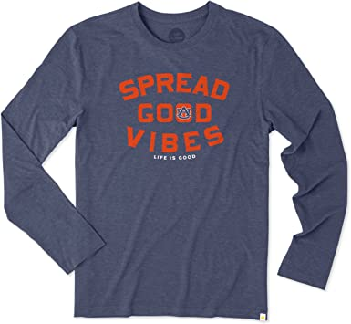 NCAA Mens Long Sleeve ND Good Vibes Arc Cool Tee