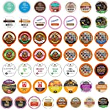 Perfect Samplers Coffee, Tea, Cider, Cappuccino & Hot Chocolate Single Serve Cups for Keurig K Cup Brewers Sampler, 50 Count