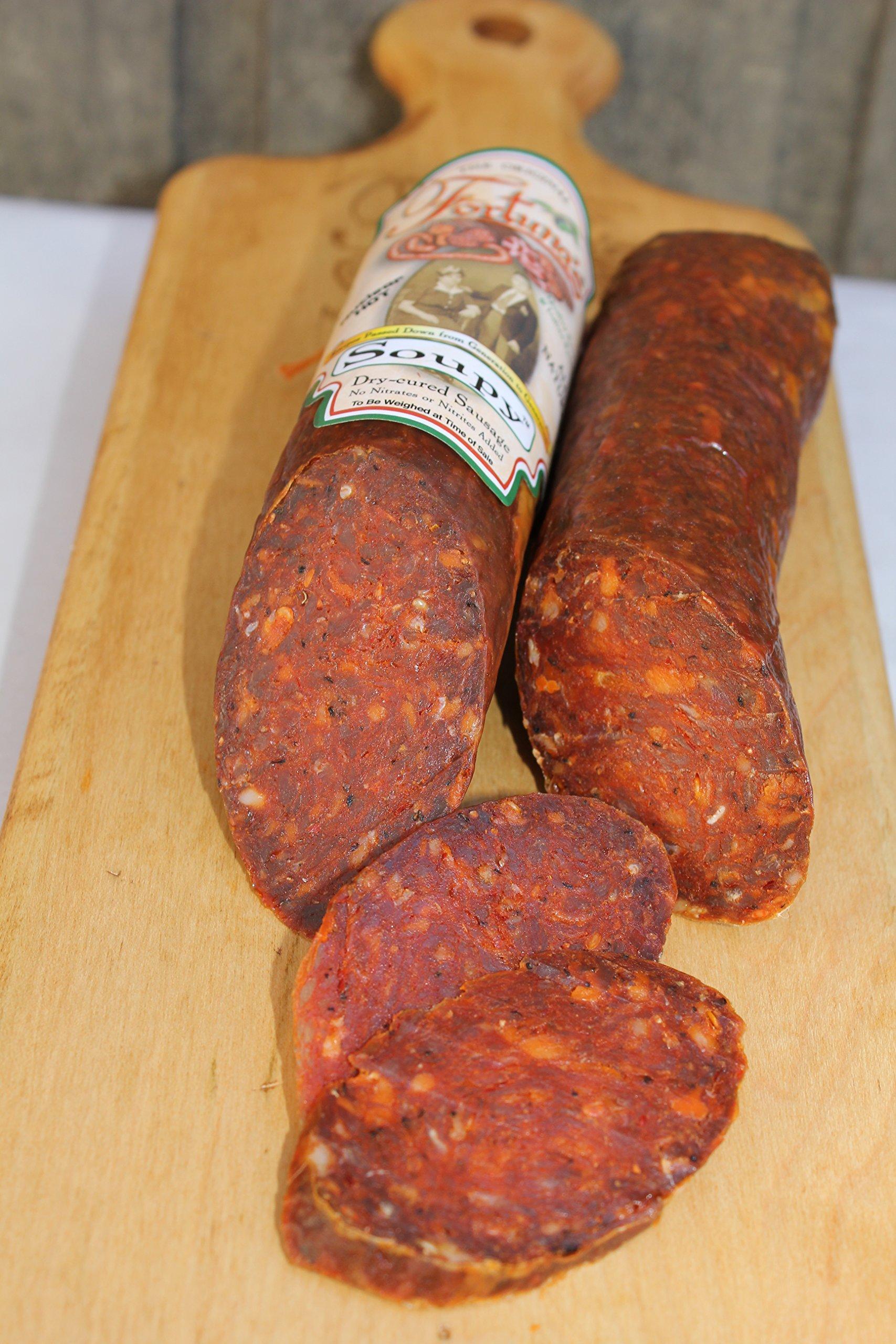 Soupy Salami -All Natural, Nitrate Free/Gluten Free (Sopressata, Supri 10oz