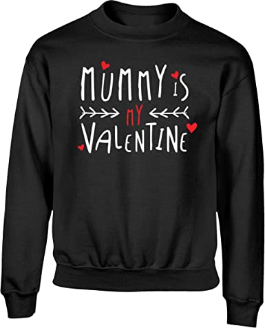 Hippowarehouse Mummy and Daddys Little Valentine Kids Childrens Unisex Hoodie Hooded top