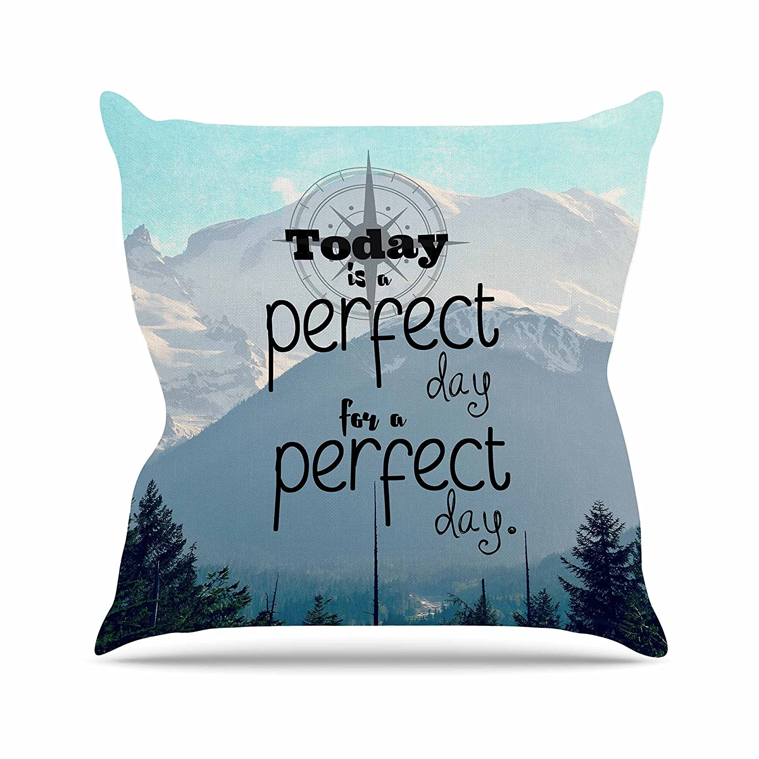 26 by 26 Kess InHouse Robin Dickinson A Perfect Day Gray Blue Throw Pillow