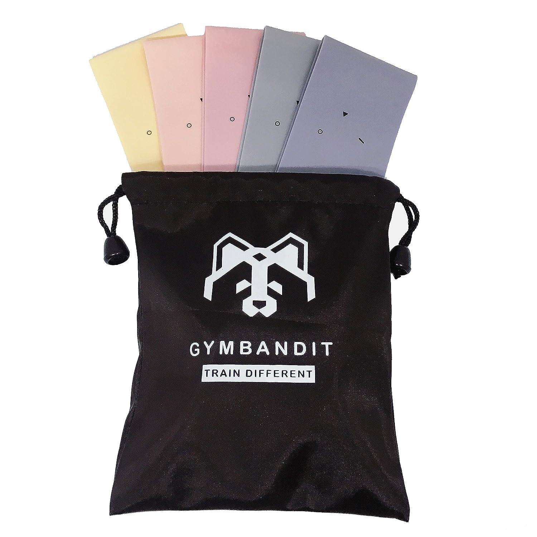 /Lot de 5/bandes de r/ésistance de qualit/é avec sac/ Gymbandit/ /Tone jambes et Fessiers /à la maison ou /à la salle de sport