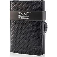 ZNAP Cartera Hombre RFID Metálico con Compartimento para Monedas – Tarjetero Hombre de Aluminio – Billetera Hombre…