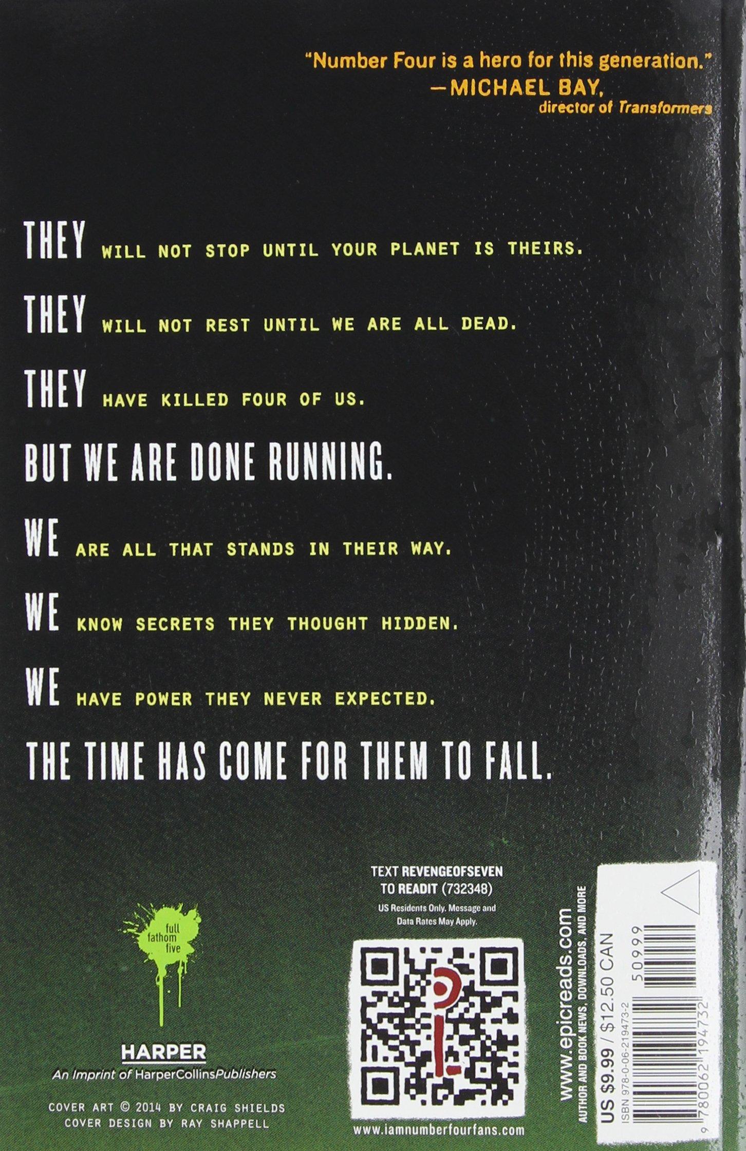 Amazon: The Revenge Of Seven (lorien Legacies) (8601422216325): Pittacus  Lore: Books