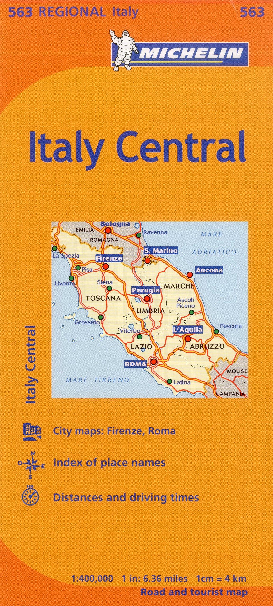 Map Of Italy Abruzzo Region.Michelin Italy Central Map 563 Maps Regional Michelin Michelin